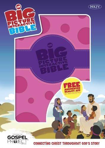 NKJV Big Picture Interactive Bible, Purple/Pink Polka Dot (Imitation Leather)