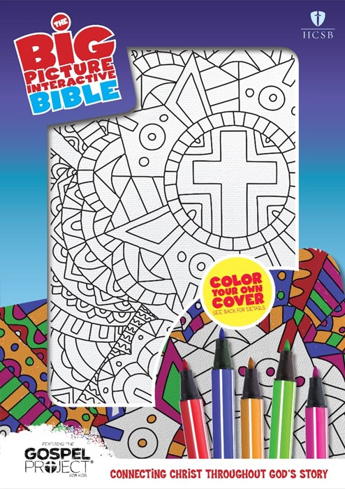 HCSB Big Picture Interactive Bible, Color-Your-Own, Cross (Imitation Leather)
