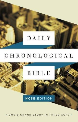 The Daily Chronological Bible: Hcsb Edition, Trade Paper