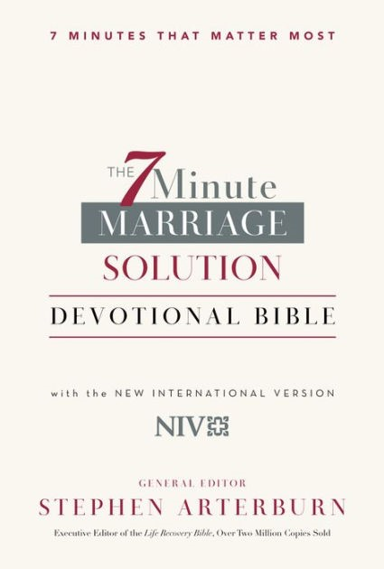 The 7-Minute Marriage Devotional Bible (Leather Binding)
