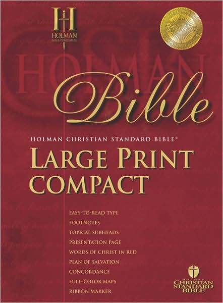 HCSB Large Print Compact Bible, Blue Bonded Leather (Bonded Leather)