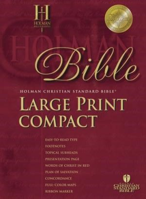 HCSB Large Print Compact Bible, Blue With Snap Flap (Bonded Leather)