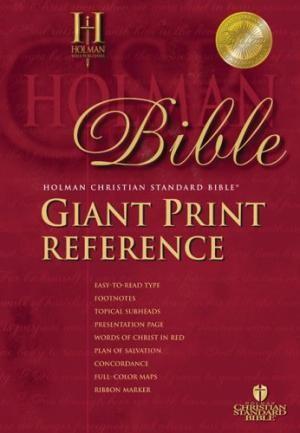 HCSB Giant Print Reference Bible, Burgundy Imitation Leather (Imitation Leather)