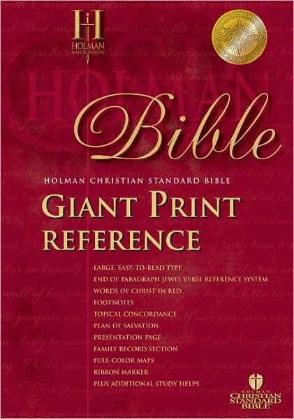 HCSB Giant Print Reference Bible, Black Imitation Leather (Imitation Leather)