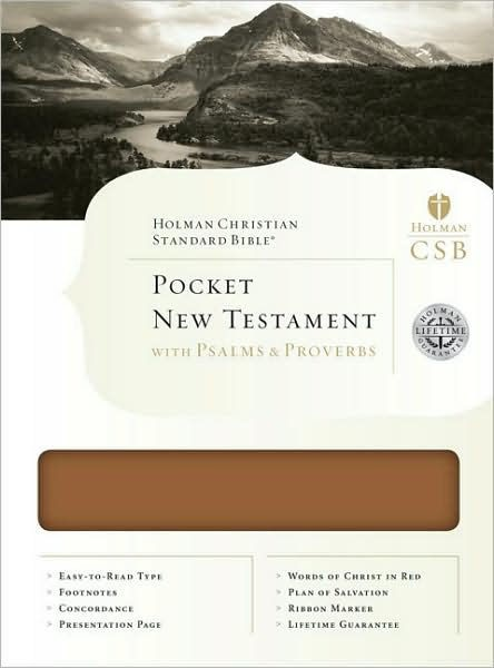 HCSB Pocket New Testament With Psalms And Proverbs (Bonded Leather)