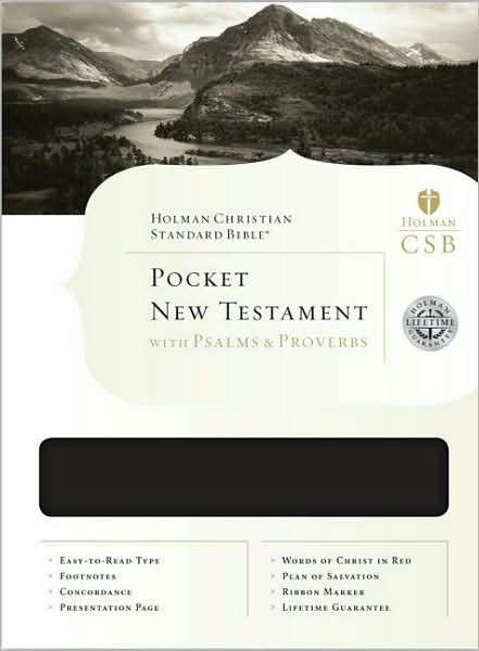 HCSB Pocket New Testament With Psalms And Proverbs (Leather Binding)