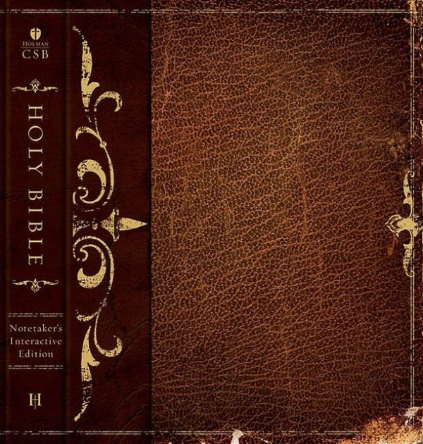 HCSB Interactive Notetaker's Bible, Brown Hardcover (Hard Cover)