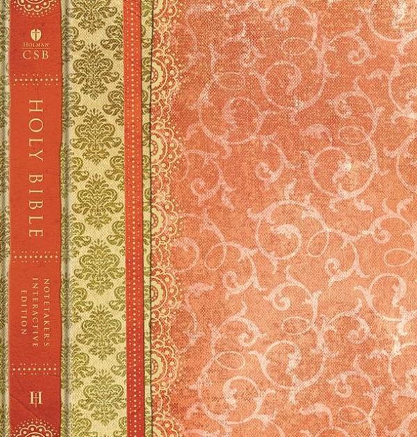 HCSB Interactive Notetaker's Bible, Orange Hardcover (Hard Cover)