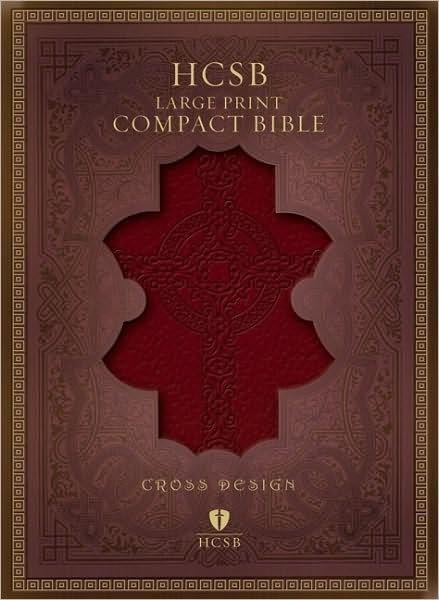 HCSB Large Print Compact Bible, Brown Imitation Leather (Imitation Leather)