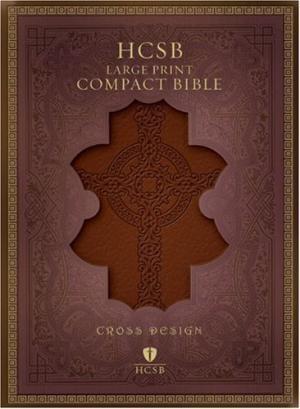 HCSB Large Print Compact Bible, Burgundy Imitation Leather (Imitation Leather)