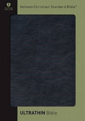 HCSB Ultrathin Reference Bible, Black Genuine Calfskin Leath (Leather Binding)