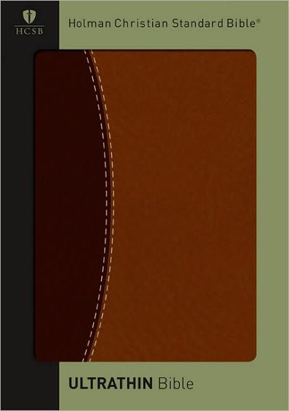 HCSB Ultrathin Reference Bible, Dark Brown/Brown (Imitation Leather)