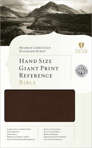 HCSB Hand Size Giant Print Reference Bible, Brown (Imitation Leather)
