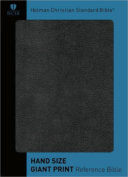 HCSB Hand Size Giant Print Reference Bible, Black Simulated (Imitation Leather)