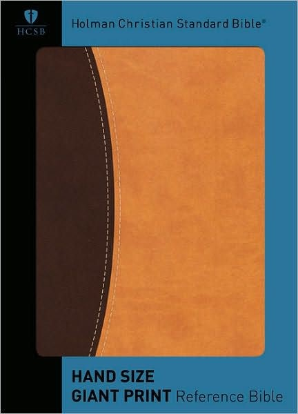 HCSB Hand Size Giant Print Reference Bible, Dark/Light Brown (Imitation Leather)
