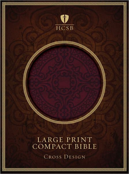 HCSB Large Print Compact Bible, Burgundy Leathertouch (Imitation Leather)