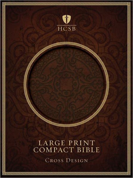 HCSB Large Print Compact Bible, Dark Brown Leathertouch (Imitation Leather)