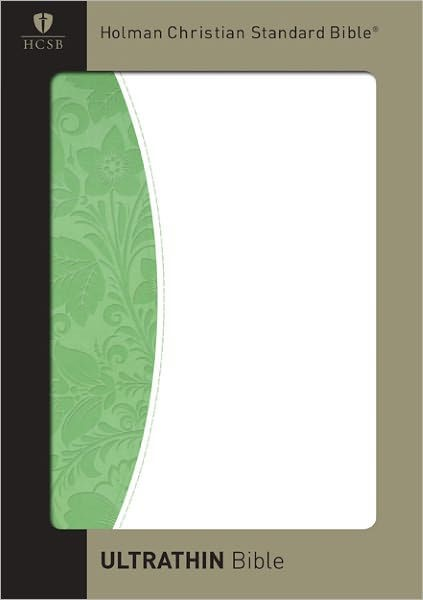HCSB Ultrathin Reference Bible, Green/White (Imitation Leather)