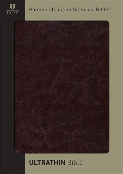 HCSB Ultrathin Reference Bible, Brown Simulated Leather (Imitation Leather)