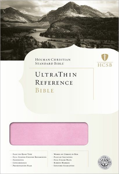 HCSB Ultrathin Reference Bible, Pink/Brown Leathertouch (Imitation Leather)