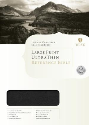 HCSB Large Print Ultrathin Reference Bible, Mantova Black (Imitation Leather)