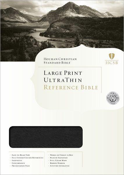 HCSB Large Print Ultrathin Reference Bible, Black (Imitation Leather)