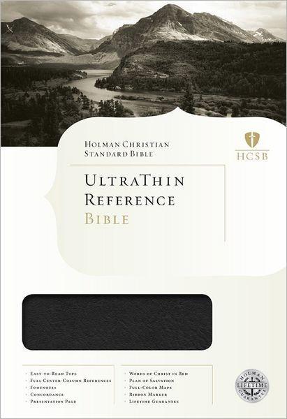 HCSB Ultrathin Reference Bible, Mantova Black Leathertouch (Imitation Leather)