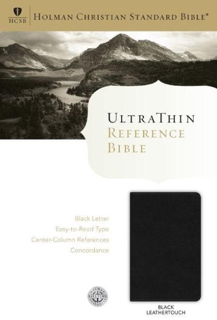 HCSB Ultrathin Reference Bible, Black Leathertouch (Imitation Leather)