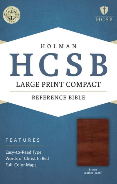 HCSB Large Print Compact Bible, Brown Leathertouch (Imitation Leather)