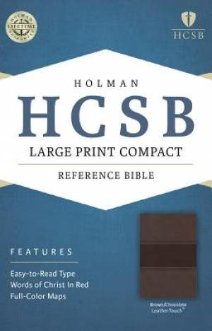 HCSB Large Print Compact Bible, Brown/Chocolate Leathertouch (Imitation Leather)
