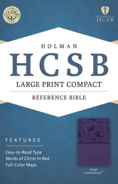 HCSB Large Print Compact Bible, Purple Leathertouch (Imitation Leather)