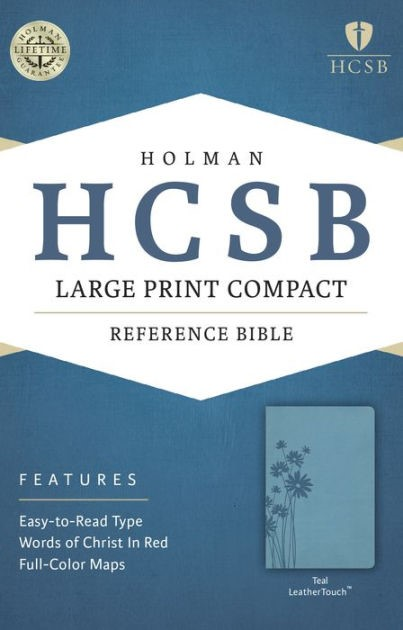 HCSB Large Print Compact Bible, Teal Leathertouch (Imitation Leather)