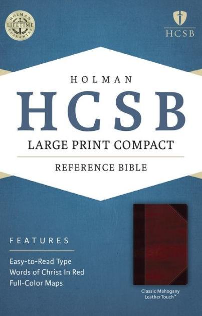 HCSB Large Print Compact Bible, Classic Mahogany Leathertouc (Imitation Leather)