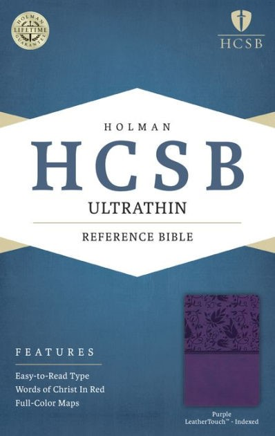 HCSB Ultrathin Reference Bible, Purple Leathertouch Indexed (Imitation Leather)