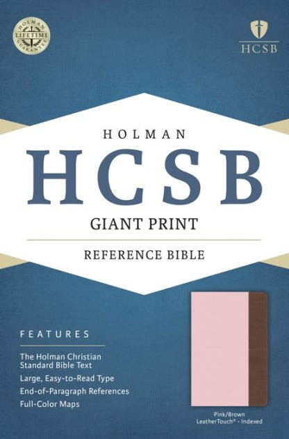 HCSB Giant Print Reference Bible, Pink/Brown, Indexed (Imitation Leather)