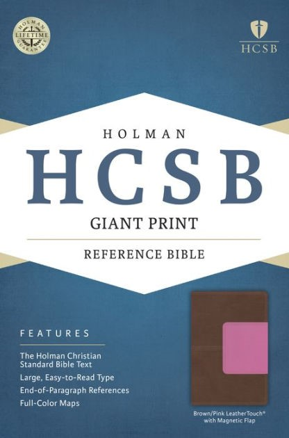 HCSB Giant Print Reference Bible, Pink/Brown (Imitation Leather)
