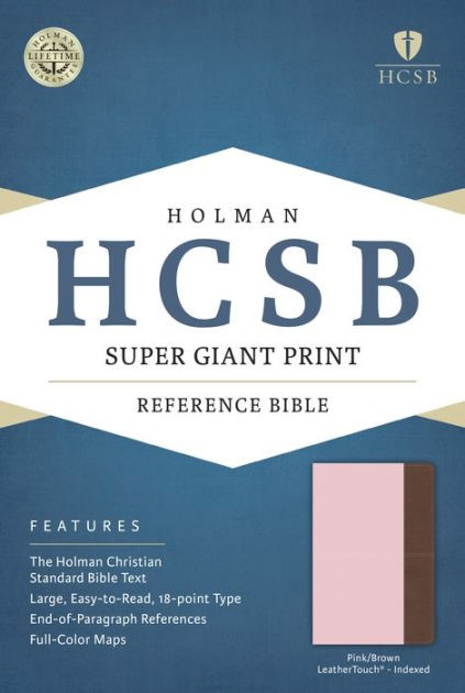 HCSB Super Giant Print Reference Bible, Pink/Brown (Imitation Leather)
