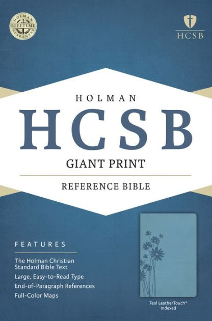 HCSB Giant Print Reference Bible, Teal Leathertouch Indexed (Imitation Leather)