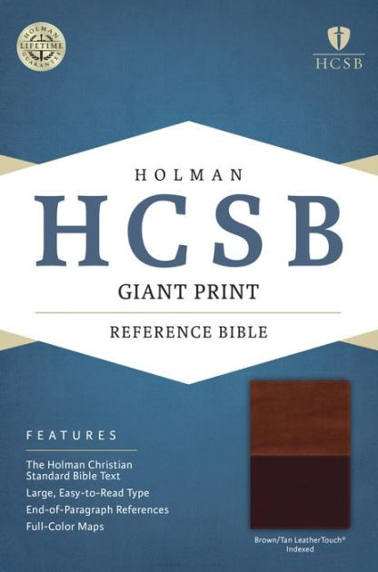 HCSB Giant Print Reference Bible, Brown/Tan, Indexed (Imitation Leather)