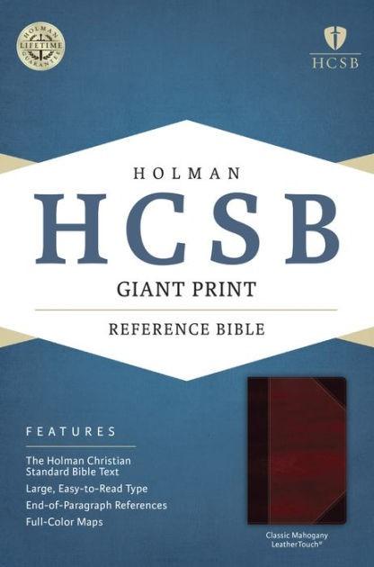 HCSB Giant Print Reference Bible, Classic Mahogany (Imitation Leather)