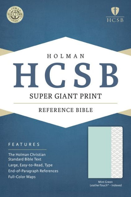 HCSB Super Giant Print Reference Bible, Mint Green (Imitation Leather)