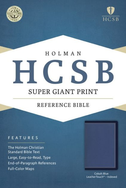 HCSB Super Giant Print Reference Bible, Cobalt Blue (Imitation Leather)