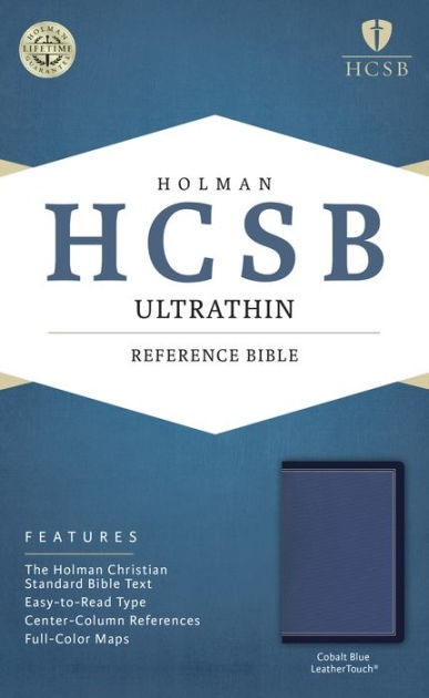 HCSB Ultrathin Reference Bible, Cobalt Blue Leathertouch (Imitation Leather)