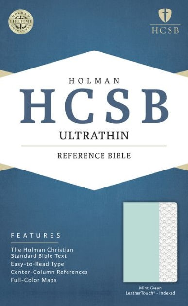 HCSB Ultrathin Reference Bible, Mint Green, Indexed (Imitation Leather)