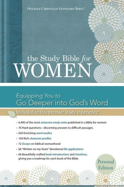 HCSB Study Bible For Women, Personal Size Edition (Hard Cover)