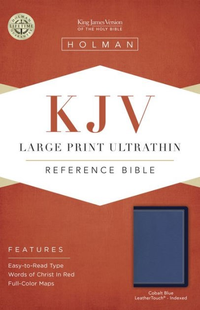KJV Large Print Ultrathin Reference Bible, Cobalt, Indexed (Imitation Leather)