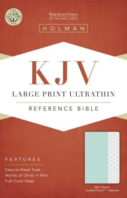 KJV Large Print Ultrathin Reference Bible, Mint, Indexed (Imitation Leather)
