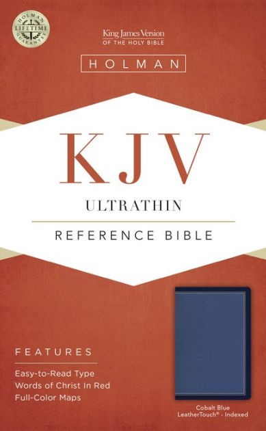 KJV Ultrathin Reference Bible, Cobalt Blue, Indexed (Imitation Leather)