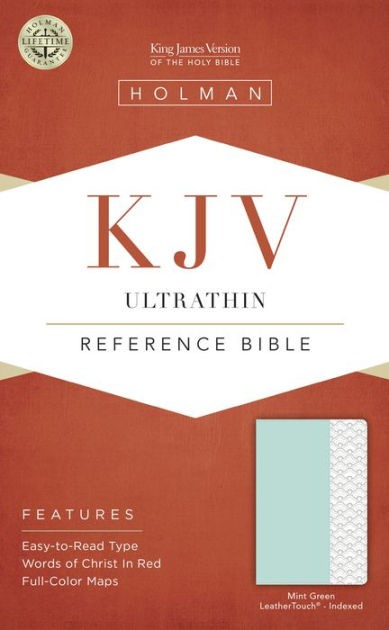 KJV Ultrathin Reference Bible, Mint Green, Indexed (Imitation Leather)