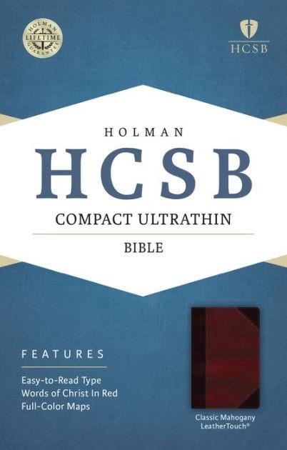 HCSB Compact Ultrathin Bible, Classic Mahogany Leathertouch (Imitation Leather)